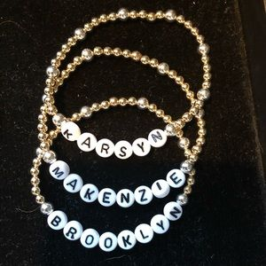 Jewelry - 4mm 14kt Gold Filled w/ 5mm SS accent and name